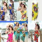 Floral Flowers Bohemian Boho Backless Sundress Halter Long Beach Sun Maxi Dress
