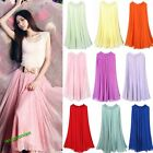 New Women's Ladies Full Circle Chiffon Skirt Long Maxi Summer Dress Skirt
