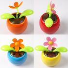 Flip Flap Solar Powered Flower Flowerpot Swing Dancing Toy For Car / Home Decor