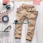 2016 Spring Autumn Boy Baby Child Kids Zipper Pockets Harem Trousers Pants 3-8Y