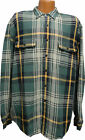 Eddie Bauer  Long Sleeve   Heavy Twill  Two Pocket   Green Plaid   Sports Shirt