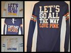 Victoria's Secret Love Pink T shirt Henley Thermal Let's Go all the Way Football