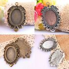 5Pc Bronze/Tibetan Silver Leaf Picture Photo Frame Charms Pendant Beads Findings