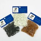 Strong Rubber Plaiting Bands Pack 500 Horse Mane & Tail Black Brown White