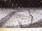 Discount Fabric Black Lace Tulle Metallic Gold Coin Dot 689LC