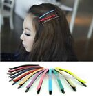 Women Candy colors Matte Hair Side Clips Barrette Hairpins Hair Accessories