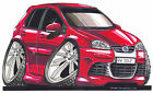 Volkswagen VW Golf Printed Koolart Cartoon T Shirt 2137 Other Colors Available