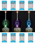 FLASHING NUMBER CANDLE HOLDER WITH 4 BIRTHDAY PARTY CANDLES CHOOSE NUMBER 0-9