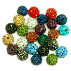 Quality Czech Crystal Rhinestone Pave Clay Round Disco Ball Beads 6mm 8mm 10mm