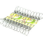 20 PACK Stainless Steel Windproof Clothes Line Clip for Clothesline HQS-G104049