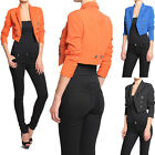 MOGAN Chic Long Sleeve Double Breasted OPEN BLAZER Suiting Tuxedo Cropped Jacket