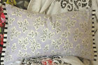 Designers  Guild Fabric Meadow Leaf bolster cover with Franchini Noir trim BNWOT