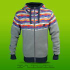 Bench Original Ragged Heavy Knit Stripe Knitted Fleece Lined Hoody Zip Jumper