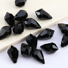 50Pcs Black Drops Crystal Spacer Loose Beads Jewelry making 10*6mm 2720