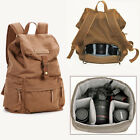 Waterproof Canvas DSLR Camera Backpack Bag Rucksack For Canon Nikon Sony Pentax