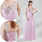 Charming Sexy Chiffon Bead Pageant Dresses Wedding Dress Long Evening Party Prom