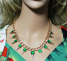 Hot European Style Exquisite Jewelery Crystal Exaggerated Spikes Bib Necklace