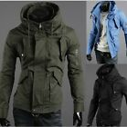 Mens Slim Fit Sexy Top Designed Hoodies Military Jackets Coats Tops 3Color 4size
