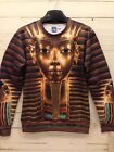 Japan Harajuku 3D Ancient Egypt king Round neck sweatshirt,Lover Autumn T-shirt