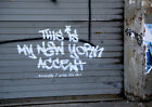 This Is My New York Accent Banksy October Print Poster A4 A3 A2 A1
