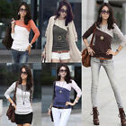 New Fashion Women Lady Long Sleeve Crew Neck T-Shirt Tops Blouse Tee 5 Colors