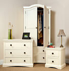 BEDROOM FURNITURE French Shabby Chic Cream Painted  Drawers Bedsides Wardrobes