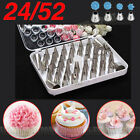 24/52 Steinless Steel Icing Piping Nozzles Tips Cake Decorating DIY Tools #4