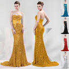 Stunning Sequin Bridesmaid/Evening/Formal/Ballgown/Party/Prom Dress Long Mermaid