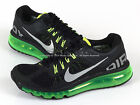 Nike Air Max 2013 GS Black/Metallic Silver-Volt Lightweight Running 555426-003