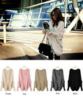 New Womens Knitted Cardigan Batwing Outwear Lady Casual Loose Sweater Coat Tops
