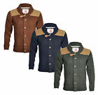 New Soul Star Men's Heavy Chunky Knit Button Front Cardigan Navy Brown Green Top