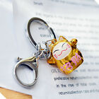 Lucky Cat Key Ring with Bell Money Good Fortune Luck Gold Red Gift Hello Kitty