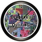 SEWING ROOM WALL CLOCK QUILTING DECOR GIFT QUILTER STITCH CUSTOM PERSONALIZED