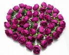 50 100 Pcs Roses Artificial Silk Flower Heads Wholesale Lots Wedding decor F02