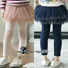 Spring Autumn Girls Baby Child Kids Rose Tutu Skirt Leggings Culottes Pants 2-7Y