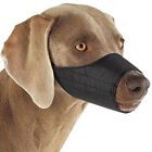 Dog Muzzle Guardian Gear Black,  Blue Pink Fabric Nylon adjustable no bite bark