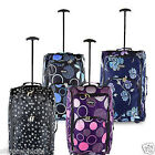Lightweight Wheeled Holdall Hand Luggage Suitcase Trolley Travel Cabin Bag