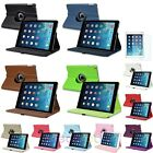Leather 360° Degree Rotating Case Cover Stand For iPad Air New+Screen Protector