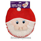 FATHER CHRISTMAS SANTA CLAUS TOILET SEAT COVER XMAS HOUSE BATHROOM DECORATION