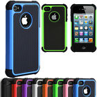 Defender Shock Proof For Apple iPhone 4 4S Dual Layer Hard Silicone Case Cover