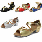 Brand New Women Children Girl's Ballroom Latin Tango Dance Shoes heeled Salsa206