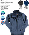 Men Waterproof Bomber Jacket Work Harington Style New HARRIS Fortress Black Navy