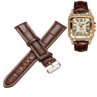 18mm-22mm Bracelet De Montre Motif Crocodile Boucle Cuir PU Watch Strap Band PRO