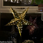 LED BATTERY OPERATED WEDDING CHRISTMAS XMAS HANGING DECORATION FOLDING STAR