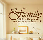""" Family A Link To The Past ""Home Decor,Wall Quotes,Wall Stickers,Decals w117"