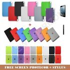 MAGNETIC LEATHER SMART COVER + BACK CASE FOR iPAD MINI STYLUS SCREEN PROTECTOR