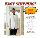Neil Allyn Classic WHITE DINNER JACKET Cruise Tuxedo Coat 1 Button NEW ALL SIZES