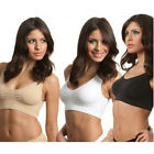 Pack of Three (3) Ladies Seamless Slimming Padded Comfort Bras sz 8-20