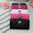 New For SamSung Galaxy S3 GT i9300 Card Wallet flower Diamond Leather Case Cover