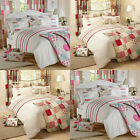 Dreams 'N' Drapes Petticoat Pintuck Applique Duvet Cover Set